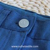 Calças ocasionais da menina do Twill do Spandex do algodão