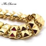 文のネックレス金カラーチョークバルブのネックレスの最も新しく大きいがっしりしたネックレス