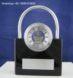 Orologio della Tabella del metallo piccolo dell'orologio del metallo dello scrittorio dell'oggetto d'antiquariato decorativo dell'orologio