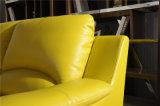 Цвет l софа желтого цвета масла кожи формы