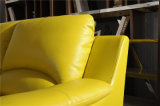 Buttergelb-Farbe L Form-Leder-Sofa