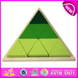 2014 Top New Popular Wooden Children Block Triangle Puzzle Toy
