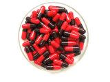Leere Gelatinekapsel Rot-Schwarz in der Pharmaindustrie
