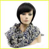 Hairpiece nero della ragazza europea breve