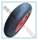 외바퀴 손수레 압축 공기를 넣은 고무 바퀴 타이어 4.00-8