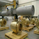 Valvola a sfera pneumatica dell'isolamento della valvola a sfera dell'acciaio inossidabile del rivestimento del vapore