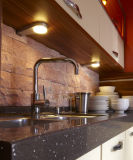 Gabinete de cozinha UV lustroso elevado da laca (zx-070)