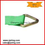 """4 """" com a cinta 4 """" verde da catraca da carga dos anéis-D de X 27 '"""