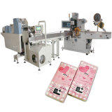 Tejido pañuelos de bolsillo de la máquina de embalaje de papel automático