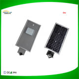 Tudo em uma luz de rua solar do diodo emissor de luz com preço do competidor
