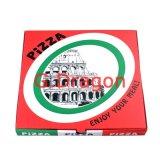 Blanc extérieur et cadre intérieur normal/de Papier d'emballage pizza (PIZZ-011)