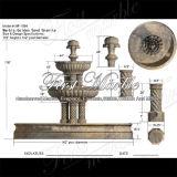 Fontana dorata Mf-1094 del granito della sabbia della fontana di pietra di marmo del granito