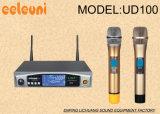 De kleine en Uitstekende UHF Dubbele Draadloze Microfoon van de Diversiteit van Kanalen Ware