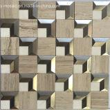 Мозаика металла смешанная естественная каменная мраморный для плитки пола (FYSM109)