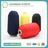Fils 100% de polyesters tournés par boucle de polypropylène Cationlic