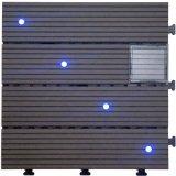 Azulejo de suelo al aire libre solar de la luz WPC de DIY para Garden30*30cm