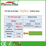 a luz de rua do diodo emissor de luz do PCI 100W substitui para a lâmpada tradicional do sódio 250W