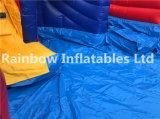 Diapositiva de agua inflable de 3 carriles con la piscina/la diapositiva inflable