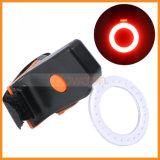 USB de la dimensión de una variable del hueso del corazón que carga la luz trasera de la bici de la cola LED