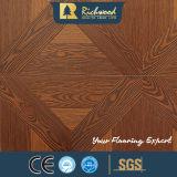 12.3mm AC4 a gravé le plancher en stratifié stratifié en bois en bois d'érable de chêne