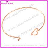 Браслеты провода Bangle DIY регулируемой слойки сердца круглые расширяемый