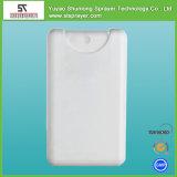Pulverizador liso plástico do cartão de tamanho do bolso do frasco do pulverizador do cartão de crédito da impressão 20ml da tela, perfume branco vazio do cartão de crédito