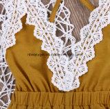 L'attrezzatura di Sunsuit della tuta del pagliaccetto delle Un-Parti del Halter delle neonate copre 0-24m Esg10176