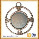 도금된 고대 청동은 주물 기념품 메달을 정지한다