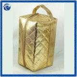 Sac cosmétique de PVC de cuir faux d'or pour le sèche-cheveux