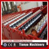 機械C21を形作る台形鋼鉄屋根のパネルのタイルシートロール
