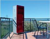 Assoalho usado HOME que está o refrigerador de ar portátil com CB do Ce