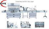 8 Vloeibare het Vullen van het Deeg van hoofden Machine + Roterende Capsuleermachine/het Afdekken Verpakkende Apparatuur