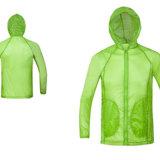 Revestimento de ciclagem da chuva do revestimento do vento da camisola da luva longa dos esportes dos homens