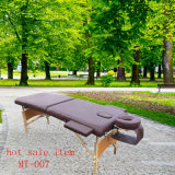 Vector portable de madera del masaje con los accesorios llenos