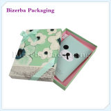 Rectángulo de papel colorido de la impresión de encargo de la insignia para empaquetar