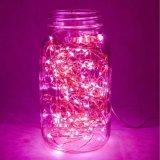 4.5 V do Firefly cor-de-rosa a pilhas da gota de orvalho do diodo emissor de luz da cor de 3 AA corda estrelado feericamente da luz de piscamento para a decoração do quarto