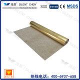 A borracha natural de 100% 3mm foi a base com folha de alumínio do ouro
