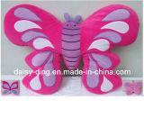 Amortiguador lindo de la dimensión de una variable de la mariposa de la felpa con buen bordado