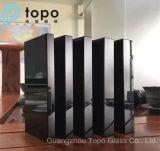 Alta calidad Negro plano flotado de vidrio para mesa de cristal (CB)