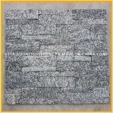 Tuiles vertes/grises normales de mur en pierre de culture de pierre de quartz