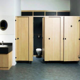 Cubículo de toalete com cartão compacto HPL de 12mm com hardwares
