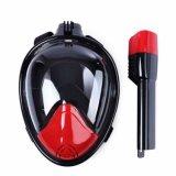 Smaco 180 Volledig Regelbaar Gezicht ademt vrij Mist anti-Lek snorkelt Masker