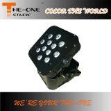 luz sin hilos de la potencia de batería de 12PCS Rgbawuv DMX LED