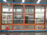 Окно Foshan Woodwin алюминиевое сползая с подгонянным стеклом