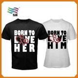 Camiseta de encargo de la impresora de la venta caliente con la publicidad para la campaña