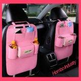 Form-multi Taschen-Auto-Rücksitz-Speicher-Organisator-lederne Beutel