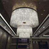 Candelabro de cristal decorativo especialmente do hotel moderno grande com estilo novo