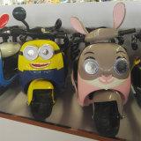 Niños de la motocicleta de la historieta Librar-en la motocicleta del cabrito del motor