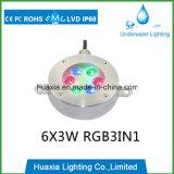 18W LEIDENE de muti-Kleur LEIDENE Waterdichte Lichten van de Fontein met Functie DMX