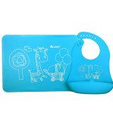 공장 공급자 FDA/LFGB 아기 공급 세트 음식 급료 실리콘 수도꼭지 & Placemat